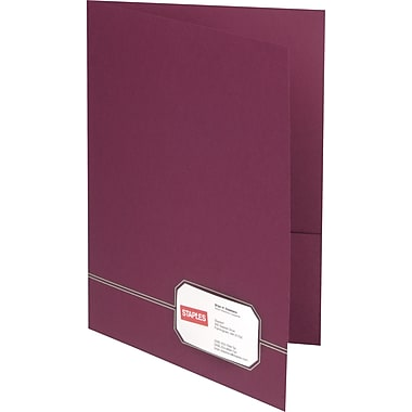 Oxford Design Monogram 2-Pocket Folders, Burgundy/Gold