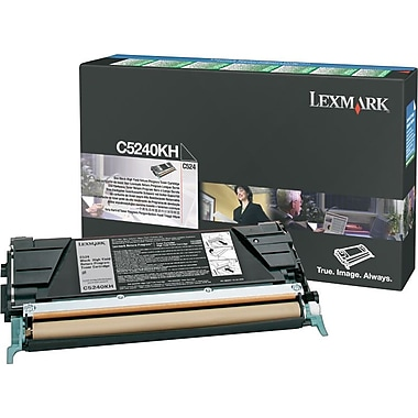 Lexmark C5240KH Black Toner Cartridge, High Yield