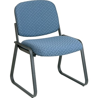 Office Star Deluxe Sled Base Armless Guest Chair, Blue