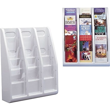 Deflecto Multi-Tiered 12 Pocket Leaflet Size Literature Holder