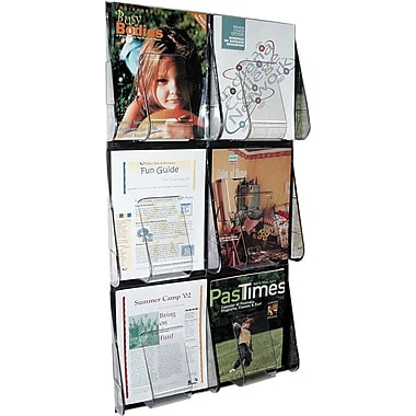Deflecto Stand-Tall® 6 Pocket Wall Mount Magazine Rack