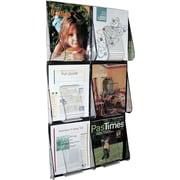 Deflecto Stand-Tall® 6 Pocket Wall Mount Magazine Rack