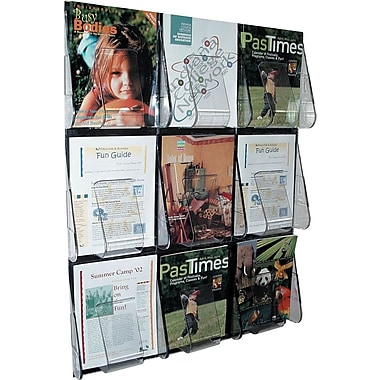 Deflecto Stand-Tall® 9-Pocket Wall Mount Magazine Rack