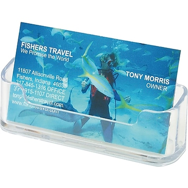 Staples Clear Business Card Holder