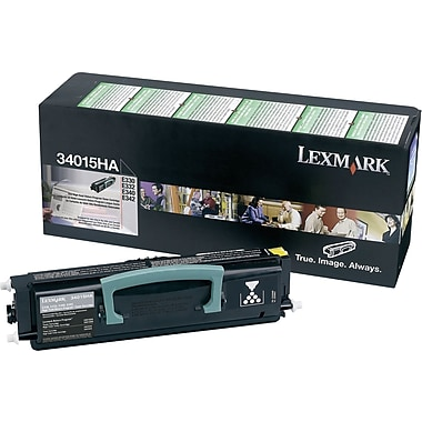 Lexmark 34015HA Black Return Program Toner Cartridge, High Yield