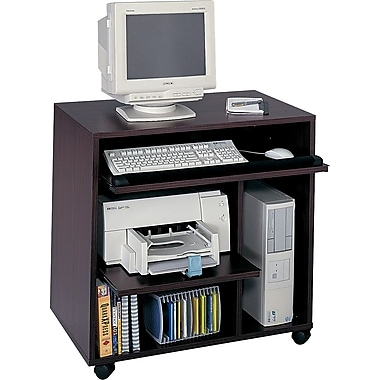 Safco Ready-to-Use Computer Workstation, Mahogany