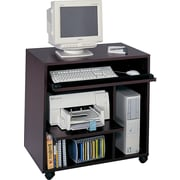Safco® Ready-to-Use Computer Workstation, Mahogany
