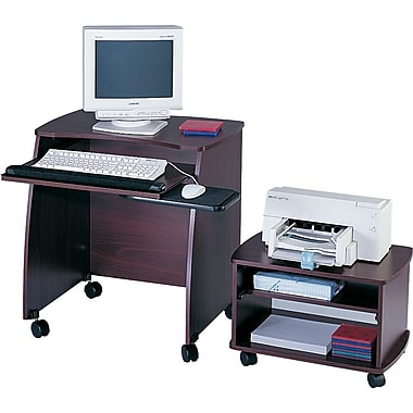 Safco 28in. Picco™ Duo Mobile Workstation, Mahogany