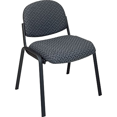Office Star Armless Guest Chair with Steel Frame, Black