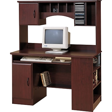 South Shore Computer Desk with Hutch, Royal Cherry (4606-782)