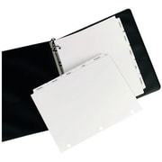Avery® Tab Dividers for Copiers, Single Reverse Collated, 5 Tab, White, 8 1/2 x 11, 30 Sets/Bx
