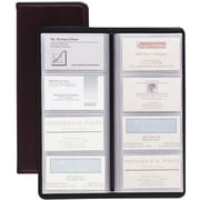 "Cardinal® Business Collection Card File, Black, 96 Card Capacity, 4 1/2"" x 1/2"" x 10 3/8"""