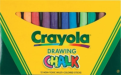 Crayola Colored Drawing Chalk, Assorted Colors, 12/Pack 641606