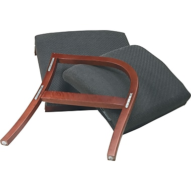 Office Star Pro-Line II  Add On Chair, Charcoal/Cherry