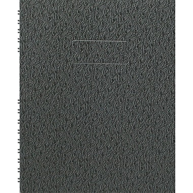 Blueline® – Cahier de notes NotePro, 9 1/4 po x 7 1/4 po, noir genre autruche, 192 pages