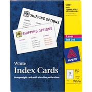 "Avery® 3"" x 5"" Laser and Inkjet Index Cards, 150/Pack (5388)"