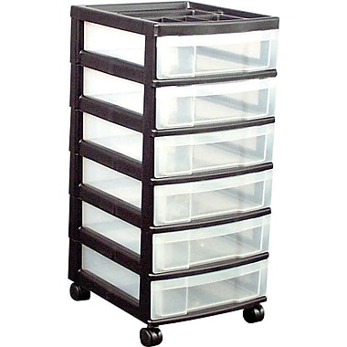 Staples® 6-Drawer Mobile Organizer