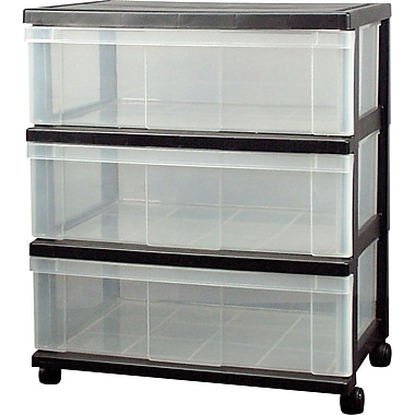 Staples® 3-drawer Wide Organizer with Plastic Top
