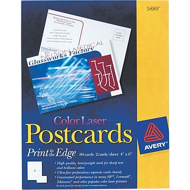 Avery® Color Laser Postcards, 4