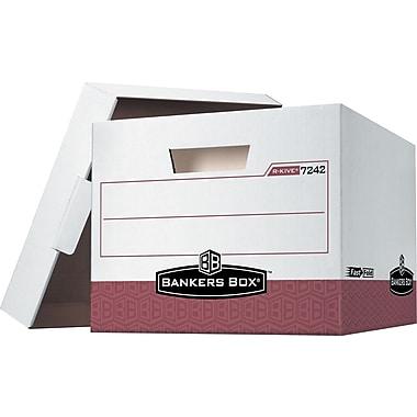 Bankers Box® - Boîtes de rangement robustes R-Kive®, lettre/légal, rouge, paq./12