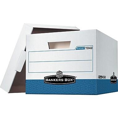 Bankers Box® - Boîtes de rangement R-Kive® robustes, lettre/légal, bleu, paq./12