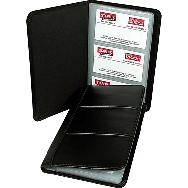 Business card organizer staples inc oukasfo marshal leather business card organizer holder black colourmoves