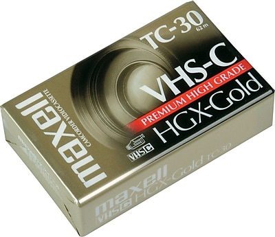 Maxell TC 30 VHS C Camcorder Tape