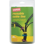Staples Reusable Cable Ties, 25/Pack