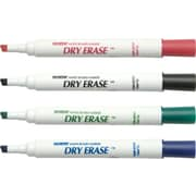 Dixon Ticonderoga Chisel Point Dry-Erase Marker, Assorted, 4/Pack