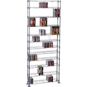 Atlantic Max Steel 12 Tier Media Rack, Silver