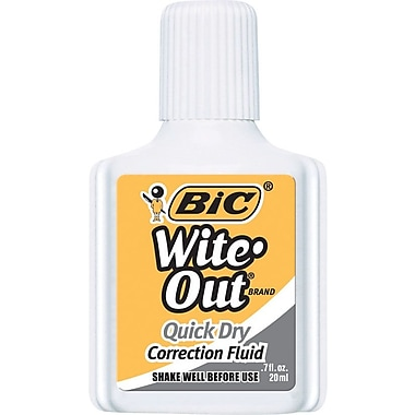BIC® Wite-Out® Brand Quick Dry Correction Fluid, White