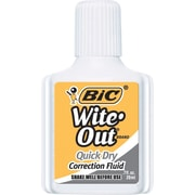 BIC® Wite-Out® Brand Quick Dry Correction Fluid, White, Dozen