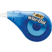 "BIC® Wite-Out® Correction Tape, 1-Line, White, 1/6"" x 400"", Full Case"