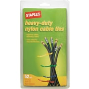 Staples Heavy-Duty Cable Ties, 52/Pack