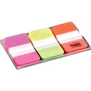 "Post-it® 1"" Tabs Pack, Solid Pink, Green, Orange, 66 Tabs/On-the-Go Dispenser (686-PGO)"
