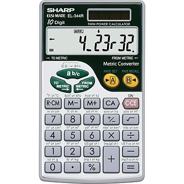 Sharp® EL344RB Metric Calculator (Pocket)
