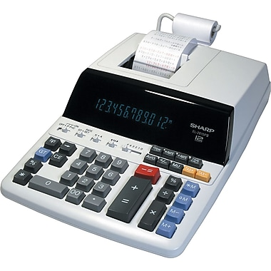 Sharp® EL2615PIII 12-Digit Desktop Printing Calculator