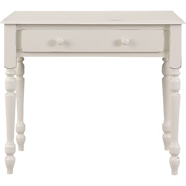 Carolina Cottage Computer Desk, Antique Ivory