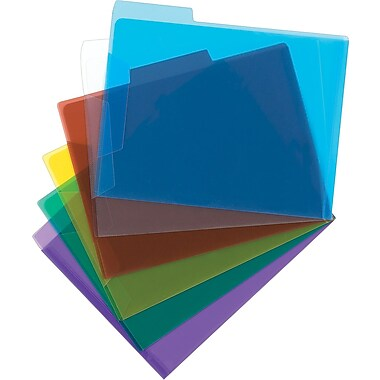 Staples® Poly Transparent File Folders, Letter Size, 8-1/2