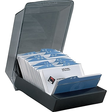 """Rolodex™ Covered Card Tray 100 Sleeve 2 5 8"""" x 4"""""""