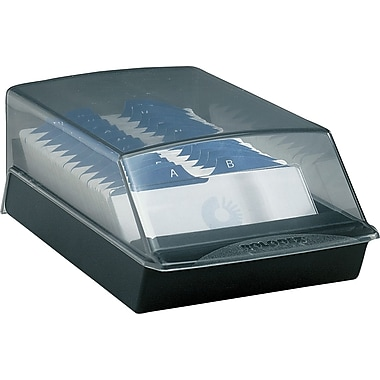 Rolodex™ Covered Card Tray, 500-Card, 2-1/4