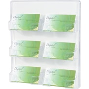 Deflecto 6-Pocket Clear Wall Mountable Business Card Holder