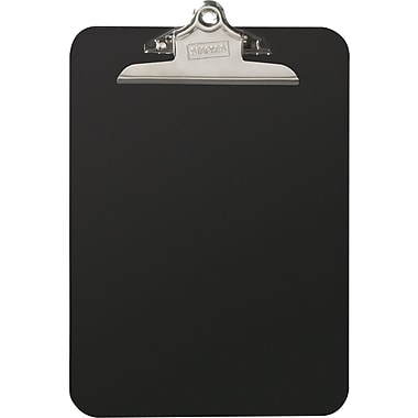 Staples® Plastic Clipboard, Smoke, 9in. x 12in.
