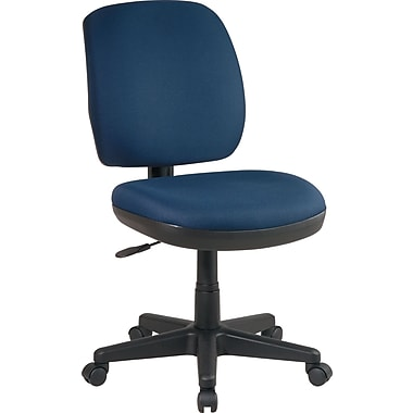 Office Star Armless Contemporary Task Chair, Navy