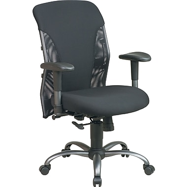 Office Star 7161 Mid-Back Office Chair, Black