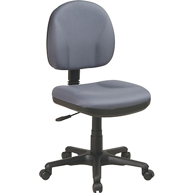 Office Star Deluxe Armless Task Chair, Grey