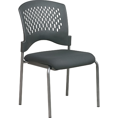 Office Star Stackable Titanium Finish Armless Visitor's Chair