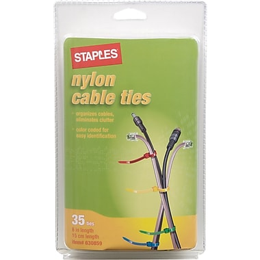 Staples Heavy-Duty Cable Ties, 35/Pack