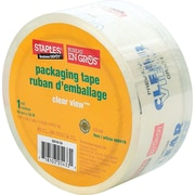 Staples® Heavy-Duty Clear View Premium-Grade Packaging Tape, 48 mm x 50 m, 2.6-mil