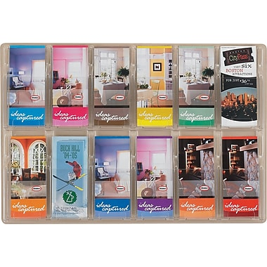Safco® Reveal™ Displays, 12 Pamphlet Display